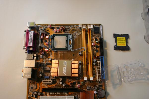 inserting the cpu onto the motherboard