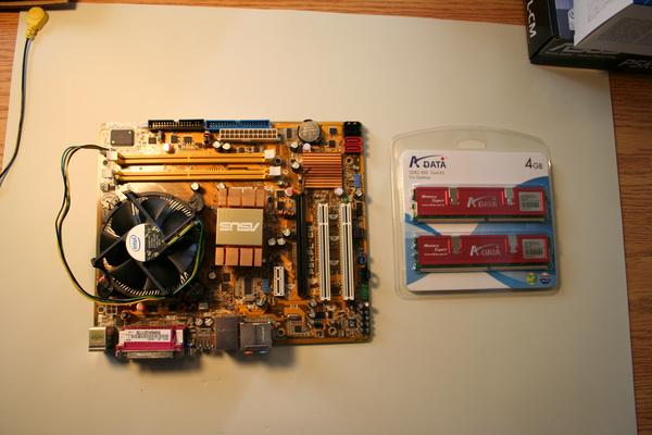 Motherboard and memory layout
