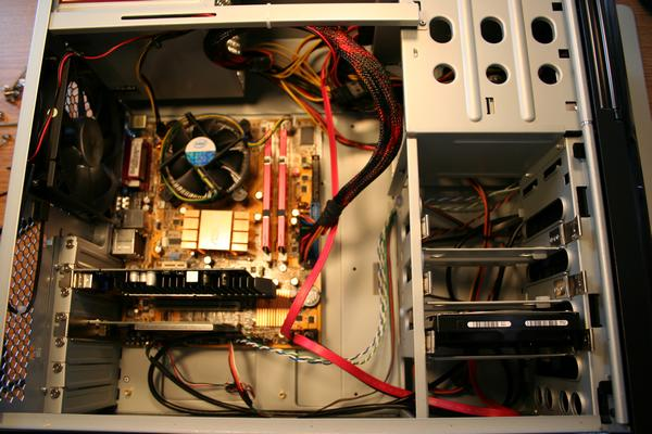 Complete assembly of the desktop computer