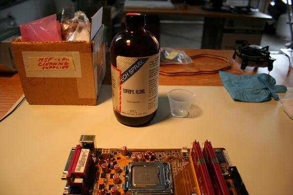 CPU cleaning supplies
