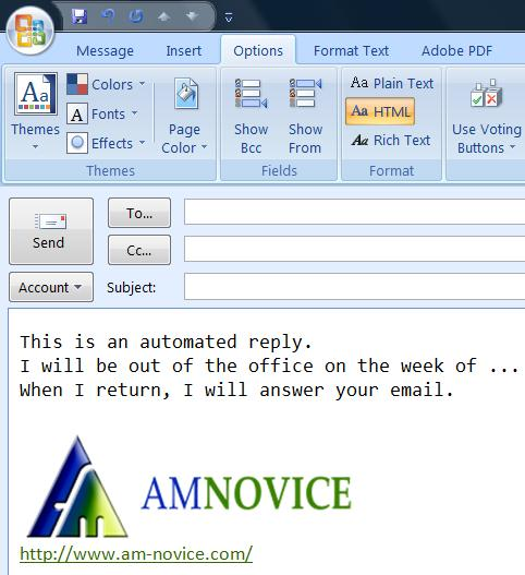 out of office message outlook 2010 template - advanced e mail