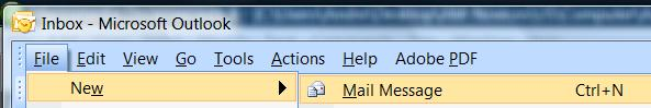 Microsoft office outlook new message